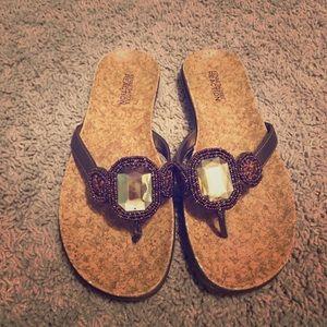 Kenneth Cole Reaction 'Golden Glam' Sandals